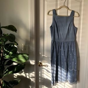 Anthropologie Vero Moda Chambray Dress